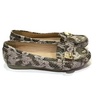 Cole HaanSnakeskin Leather Shoes Loafers Mocs 7 B